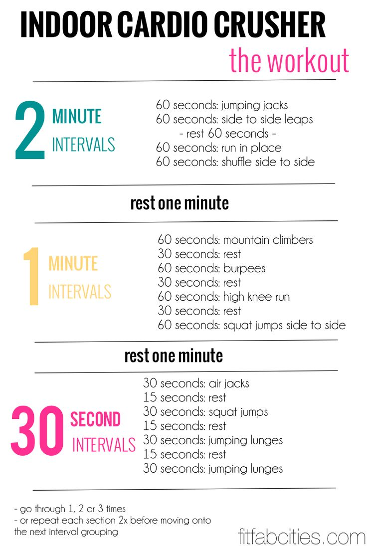 Indoor Cardio Workout Looks Like A Good Indoor Cardio For