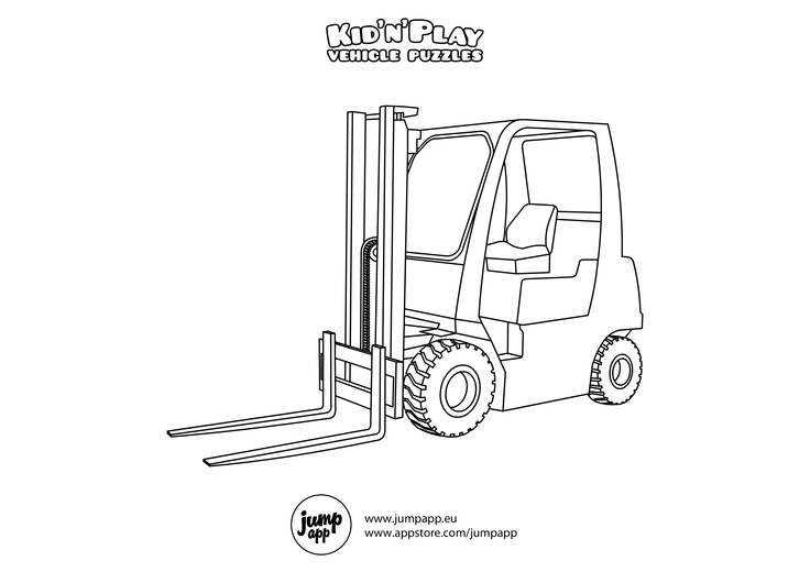 forklift | Printable coloring pages, Printable coloring ...