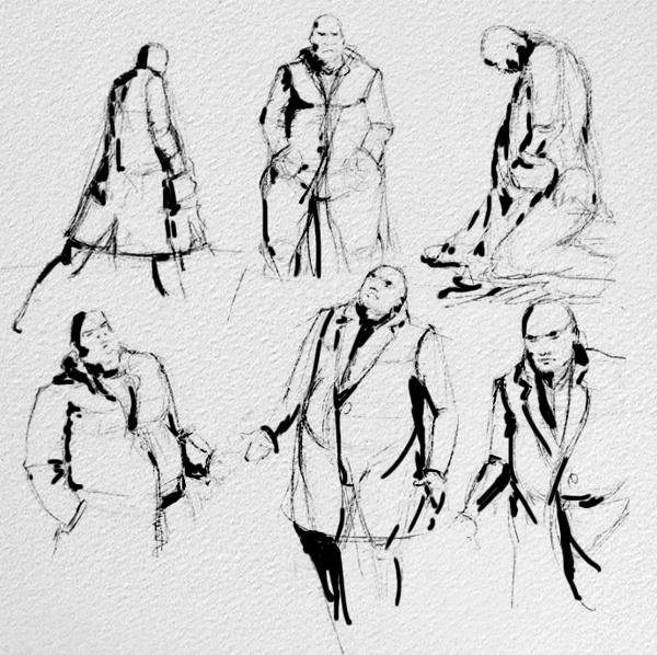 Sketch figure concepts by Daniel Toni, via Behance