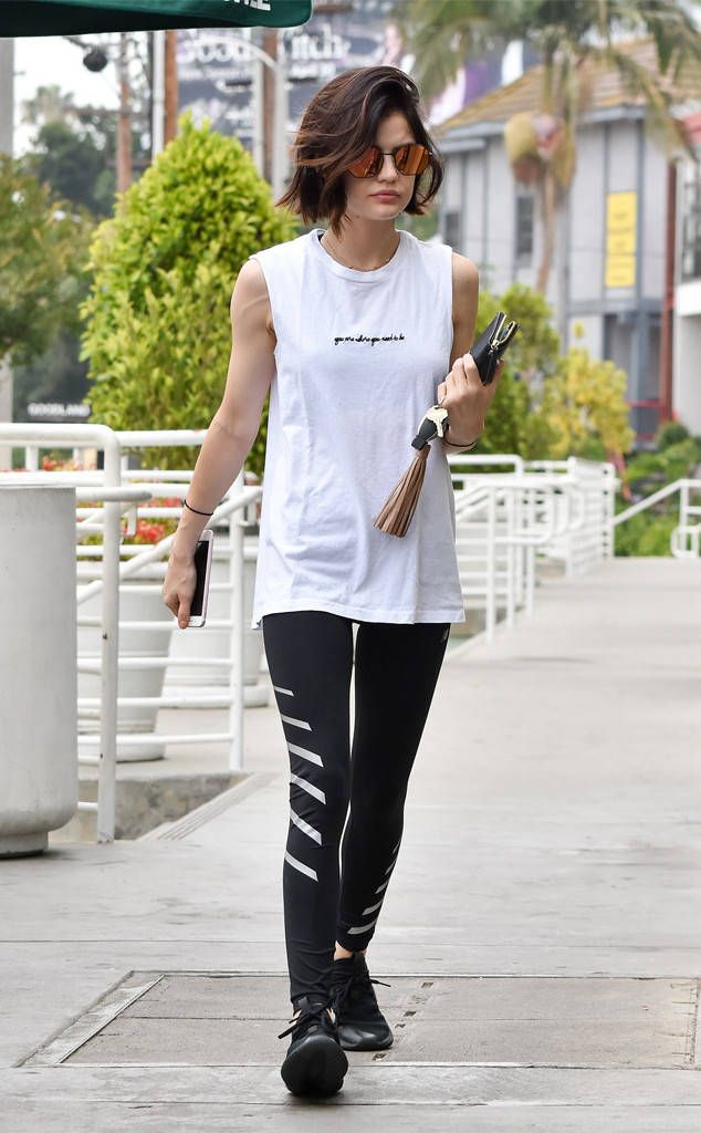 Lucy Hale from The Big Picture: Today's Hot Photos  Shape up! The Pretty Little Liars star is seen on her way to the gym.