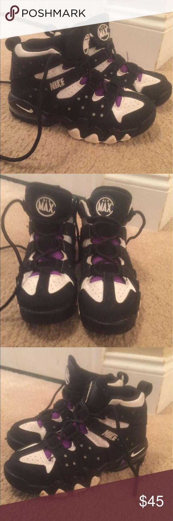 Nike Air Max CB 94 Barkley mid top black SZ 1Y In good condition Nike Shoes Sneakers