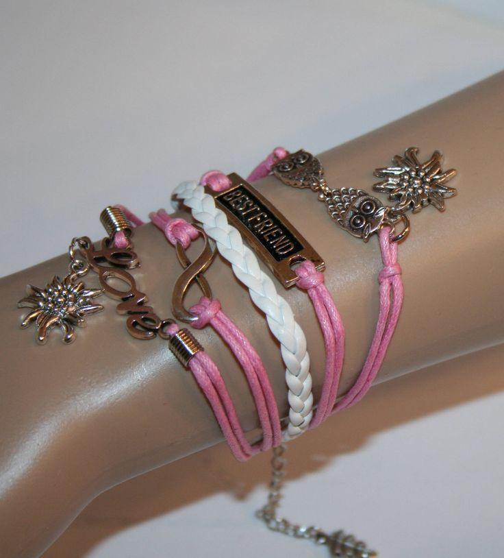 Armband - Infinity - mit Edelweiß von Edelweiss51 auf Etsy