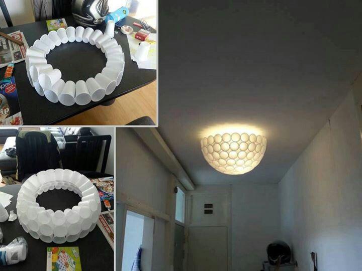 Unbelievable!! Plastic cup lamp