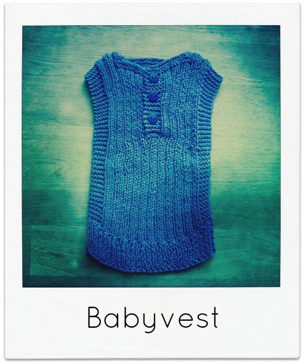 Nyt projekt, så er en lille, lækker babyvest helt ideel