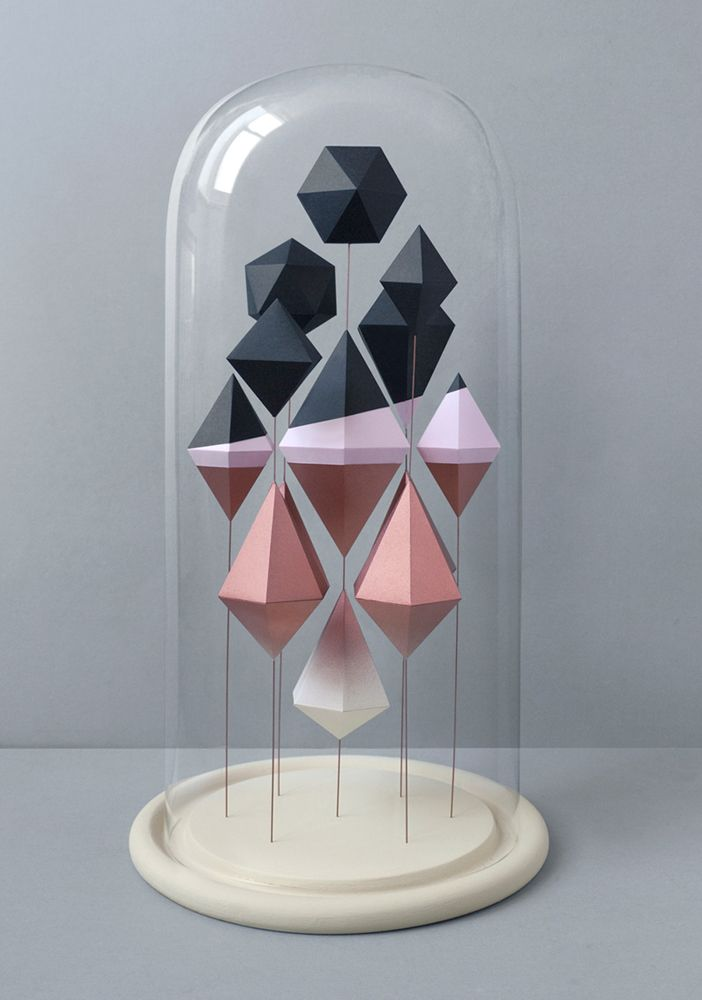 // Jar No.3: Idea, Inspiration, Art, Paper Sculptures, Geometric, Design, Presents