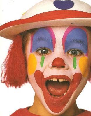 Maquillaje de payasito para niños paso a paso