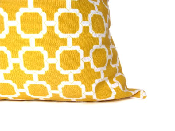 Yellow Pillow Decorative Yellow Pillows Yellow by EastAndNest, $16.00