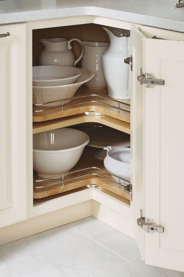 Adding Chrome Rails To A Lazy Susan Cabinet Is Great