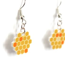 Learn how to make these cute earrings using shrink dink plastic.
