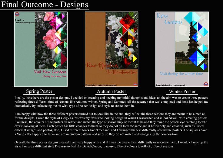 A1 Graphics, Final outcome - Designs Bookwork