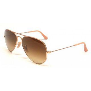 Ray-Ban Men's Large Aviator Gold Sunglasses | Overstock.com Shopping - Big Discounts on Ray-Ban Fashion Sunglasses