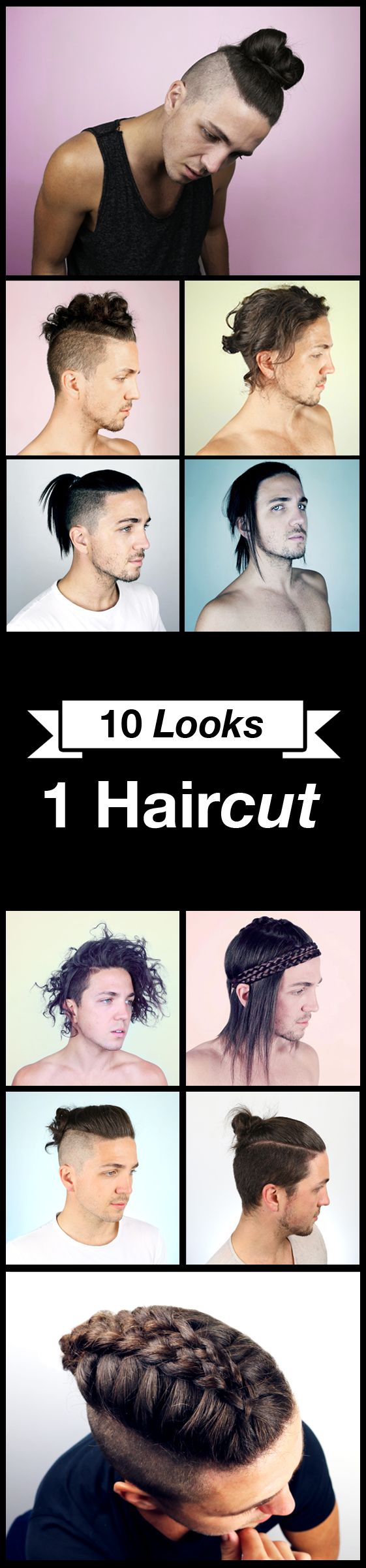 10 Hairstyles for men with a long undercut. All of these hairstyle work best with longer hair and especially on guys that wear the Top Knot or Man Bun.  For more ideas click here : https://www.youtube.com/watch?v=4ffe98V4sy0&t=28s