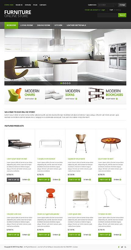 Online #Furniture store theme. #eCommerce