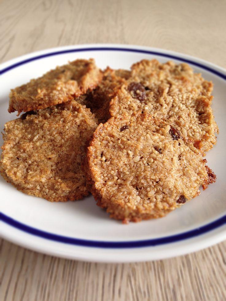 Deliziosi biscotti al cocco e mandorle, senza farina!