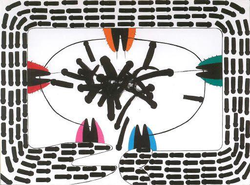 maria josé aguiar - pintura (série Marcas) 1976