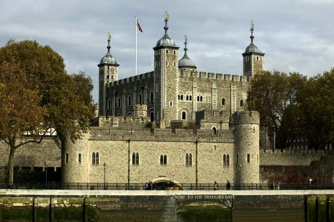 The Tower of London. Queen Elizabeth the First was held here for a short time and Anne Boleyn (among others) was beheaded here.