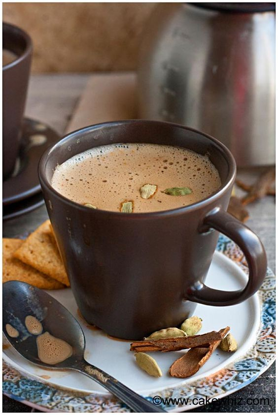 This traditional Indian recipe for Masala chai tea latte is easy to make at home. It's rich and flavorful and has the perfect balance of spices.
