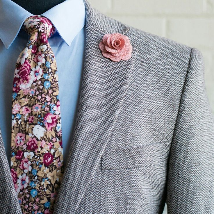 Florals are trending.  Dapper.