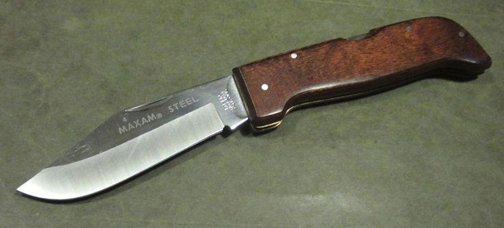 Vintage Maxam Steel Japan Lb440 Usa Lockback Hunter Bowie