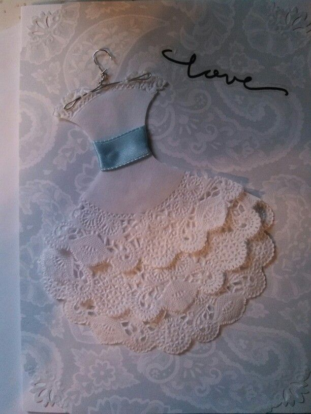 Paper lace dollie card