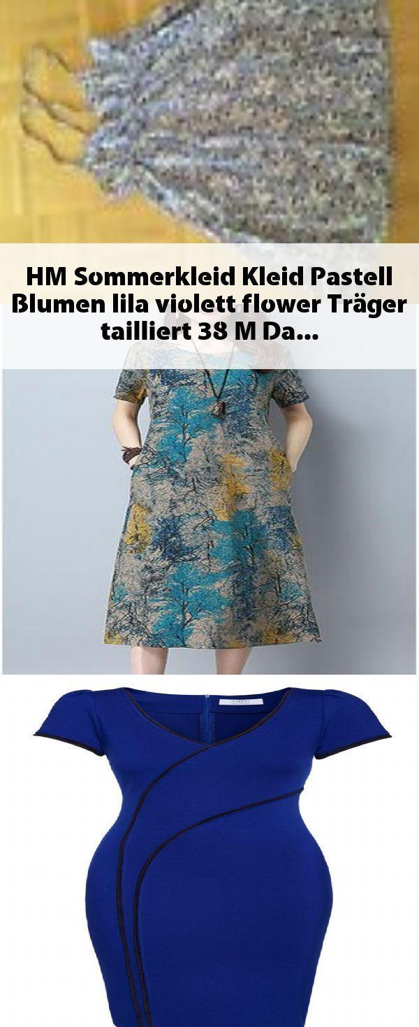 H amp;M Sommerkleid Kleid Pastell Blumen lila violett flower Trger