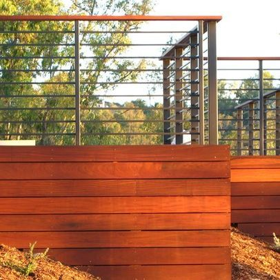 metal and ipe deck railings design