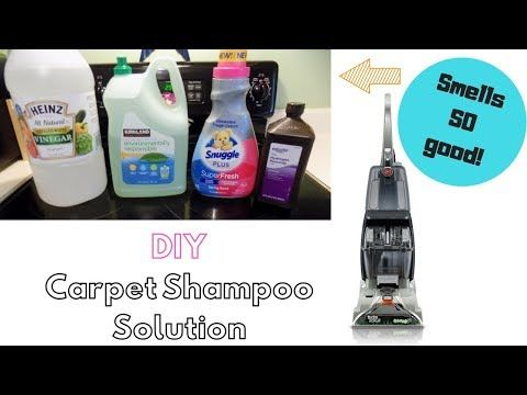Diy Carpet Shampoo Solution Smells Sooo Good Clean With Me Youtube With Images Carpet Shampoo Solution Diy Carpet Shampoo Solution Diy Carpet