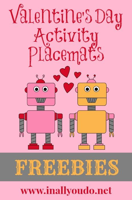 Free Valentines Day Activity Placemats Activities