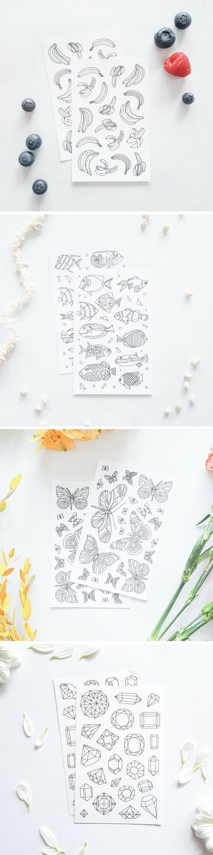 How awesome are these adult coloring stickers? Great supply for paper crafts or decorative gift wrapping! :)