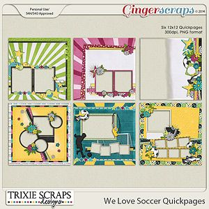We Love Soccer Quickpages by Trixie Scraps Designs