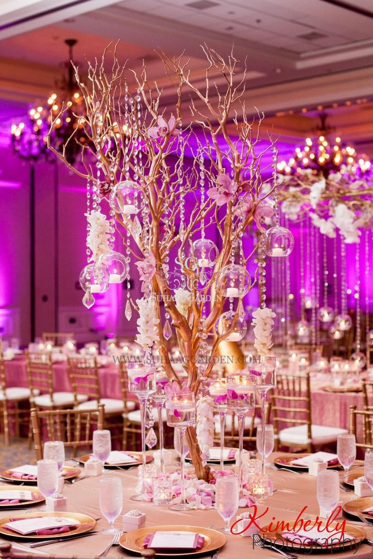 Suhaag Garden, Florida Indian Wedding Decorator, California Indian Wedding Decorator, Indian Destination Wedding Savannah, Indian Wedding, Savannah Trade & Conference Center, Fabric Mandap, Chandelier Mandap, Blush Pink, Open Fabric Stage, Tampa Waterside Hotel & Marina Florida, Tall Manzanita Branches, Gold Branches, Drooping Crystals