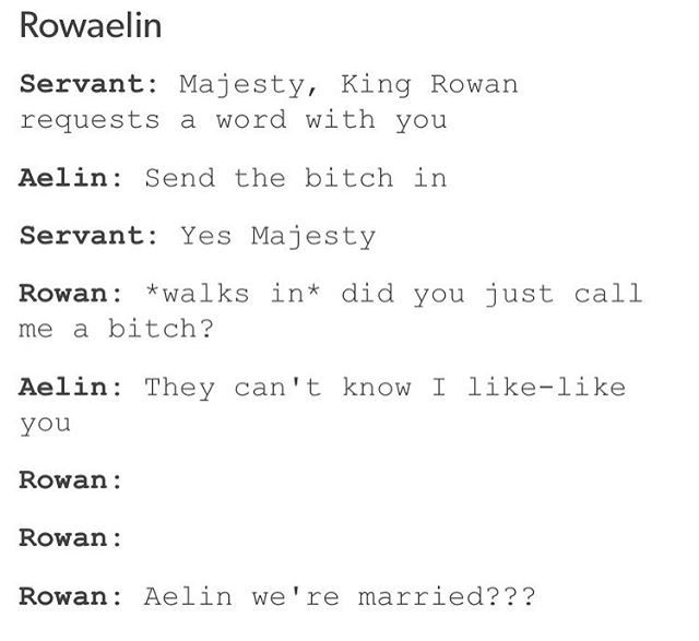 """Aelin we're married?"" Throne of glass"