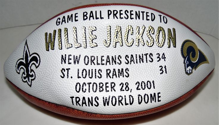 New Orleans Saints Game Ball Presented To Willie Jackson NO vs Rams Oct 28, 2001 #Wilson #NewOrleansSaints