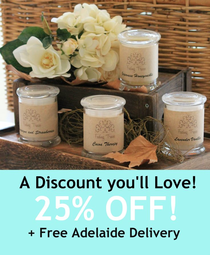 In preparation for the launch of our new container design, all of our existing stock of Container Candles is now on sale at 25% off at our etsy store! Use the code AdelaideDeliver2Me to receive free shipping on your order* (*Limited to Adelaide area)