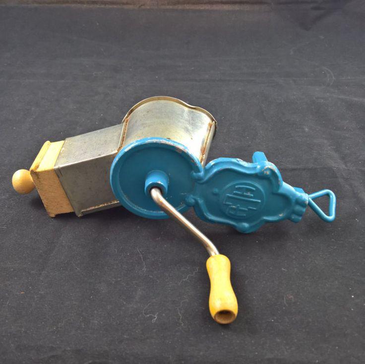 Blue, Vintage grinder,nut grinder,kitchen grinder,grinder,manual grinder,retro…