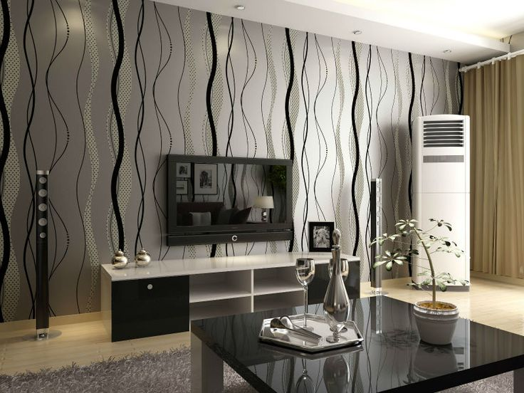 Dark Grey Living Room Walls With Black Stripes   Google Search Part 60