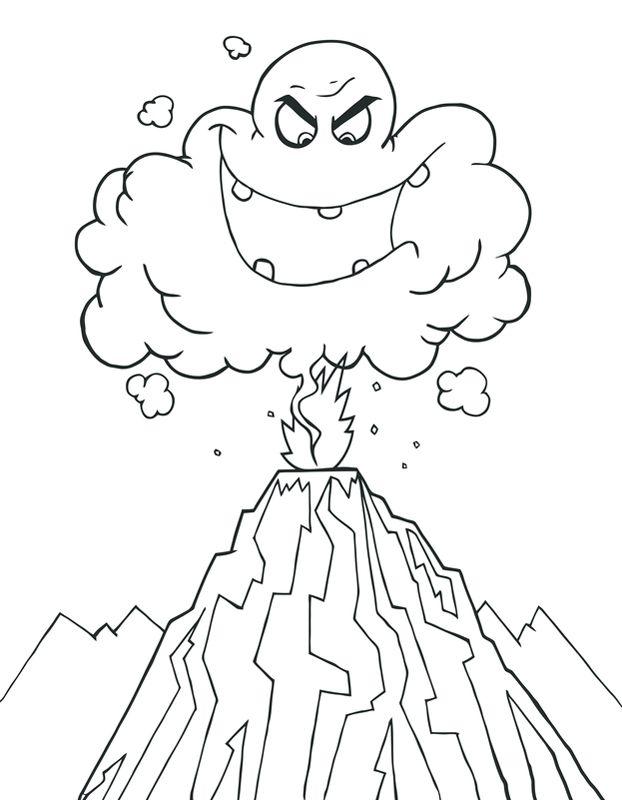 ein wolkenmonster aus einem vulkan lassen sie ihr kind