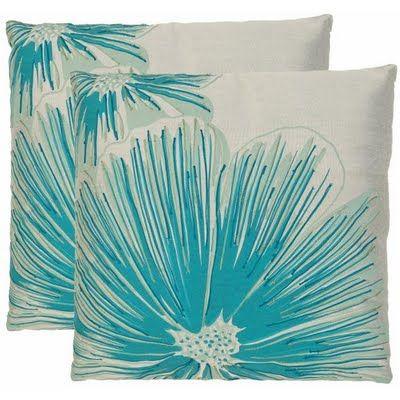 safavieh opal whiteblue decorative pillows set of 2