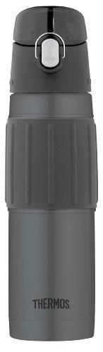 Thermos Vacuum Insulated 18 Ounce Stainless Steel Hydration Bottle Charcoal
