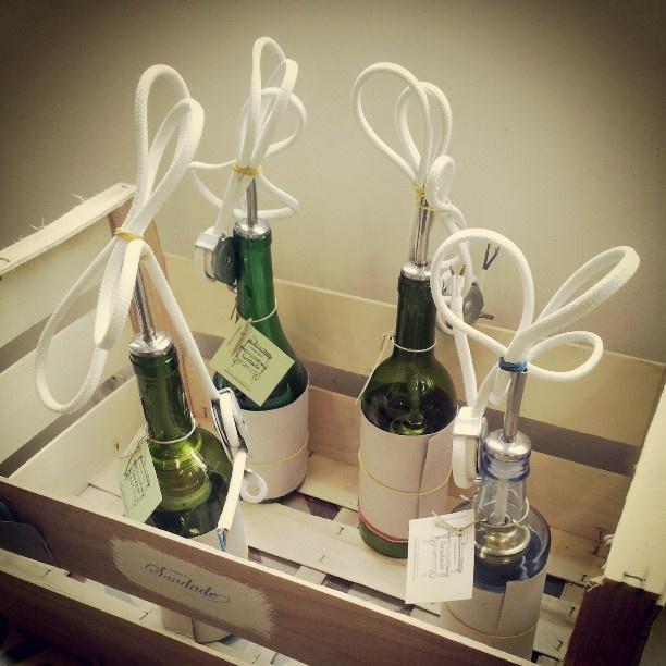 Lámparas botella recicladas de #Saudade para espacios con encanto #sevilla #shopping #iluminacion #deco #recycled