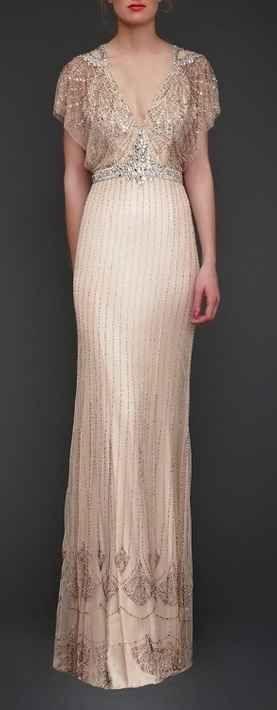 Gatsby-inspired wedding dress