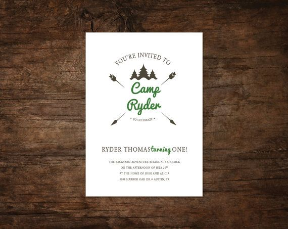camping invitation, camping party birthday invitation, backyard birthday invitation, camping invitation, camping birthday invite by Spruce and Willow | Catch My Party