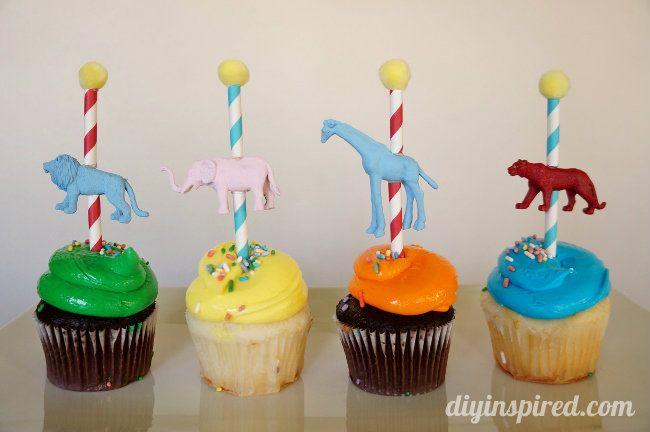 Circus or carnival Carousel Cupcake Topper