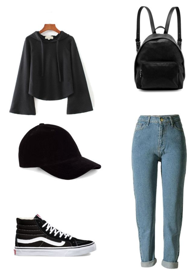 """Geen titel #9"" by shanisiavniel on Polyvore featuring mode, WithChic, Vans, STELLA McCARTNEY en Le Amonie"