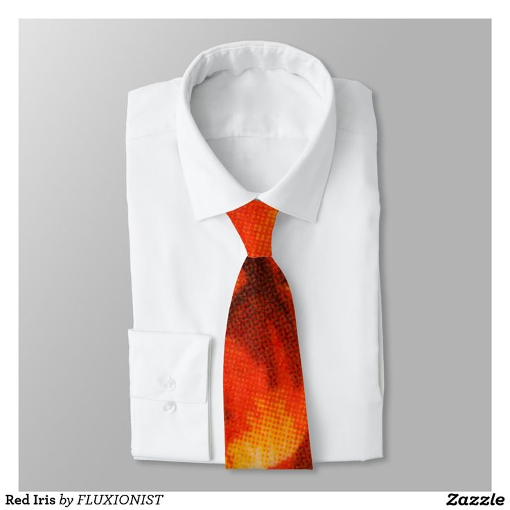 Red Iris Tie - $35.00 Made by Zazzle Apparel / Design: Fluxionist