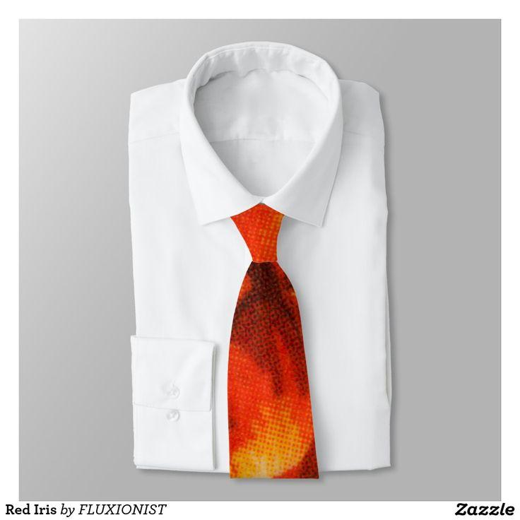 Red Iris Tie - $35.00 Made by Zazzle Apparel / Design: Fluxionist
