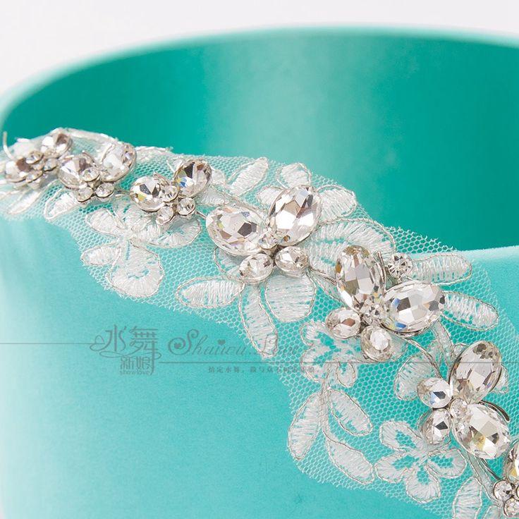 Невеста корейский кружева горный хрусталь тиара для укладки волос аксессуары для волоскупить в магазине Fashion plusнаAliExpress