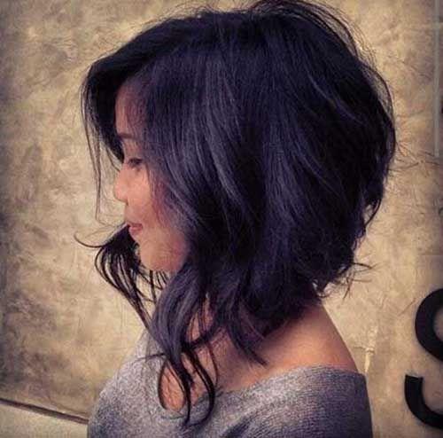 bob asimmetrici per capelli ricci
