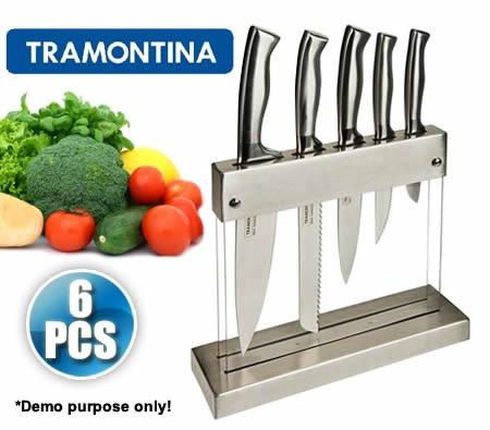 Tramontina 6 Piece Cronos Kitchen Knife Block Set