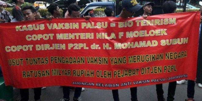 Kasus Vaksin Palsu, JARAVAS : Menkes Telah Menodai dan Menciderai NAWACITA Presiden Joko Widodo